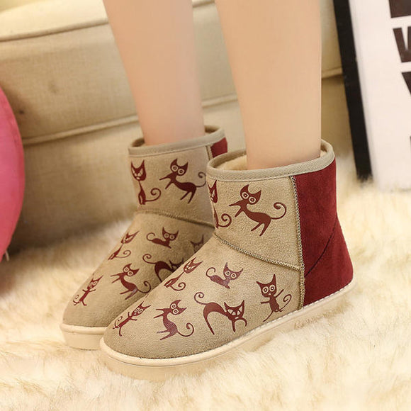 Winter Women Cotton Snow Plush Comfortable Casual Boots