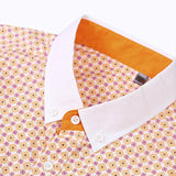 Plaid Geometrical Pattern Summer Cotton Button Down Shirt
