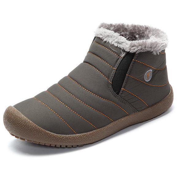 Winter Unisex Cotton Keep Warm Outdoor Plush  Ankle Snow Boots