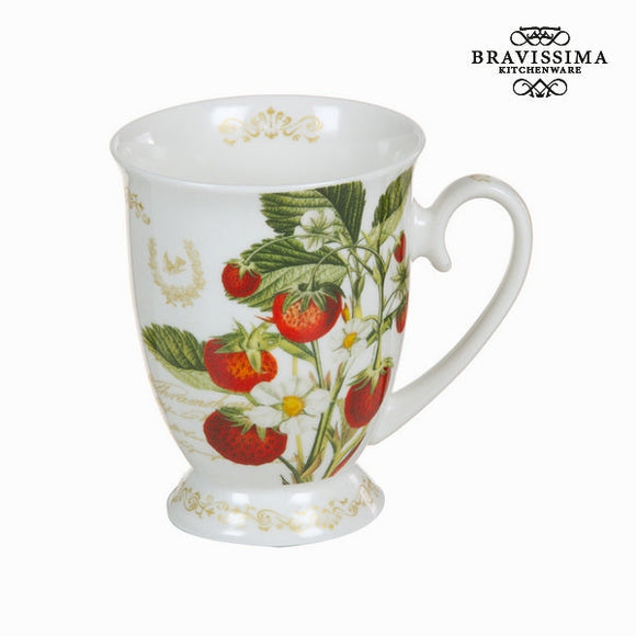 Bravissima Kitchen - Peaches and Tea Coffee Mug - Egg n Chips London
