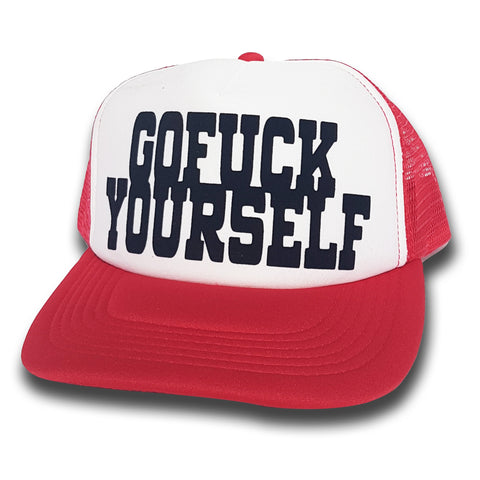 Toxico Clothing - GFY Trucker Hat (Red/White)