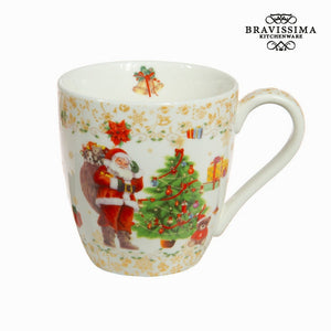 Bravissima Kitchen - Gold Porcelain Christmas Mug - Egg n Chips London