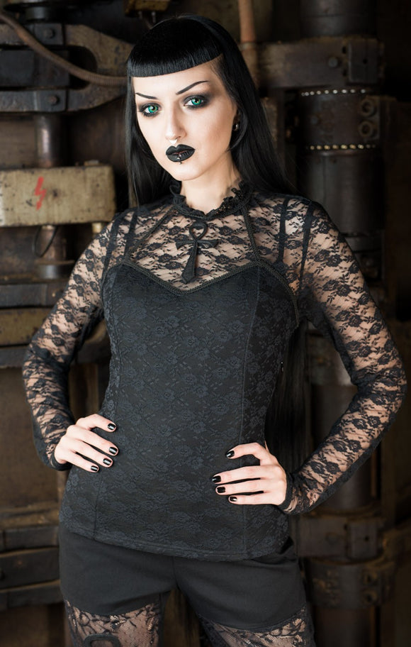 Dracula Clothing - Gothic Ankh Steampunk Lace Blouse