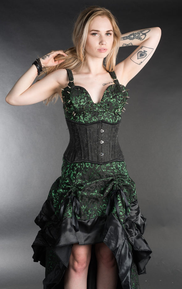 Dracula Clothing - Gothic Emerald Spiked Steampunk Top