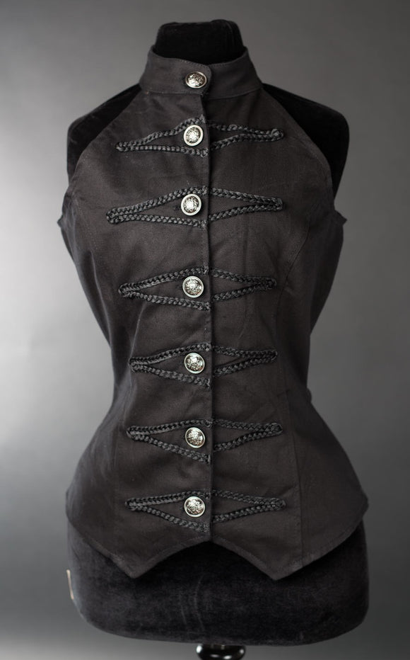 Dracula Clothing - Gothic Steampunk Female Military Vest