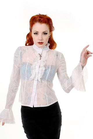 Banned Apparel - Gothic Key Lace Shirt