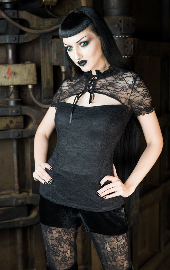 Dracula Clothing - Gothic Romantic Steampunk Lace Blouse