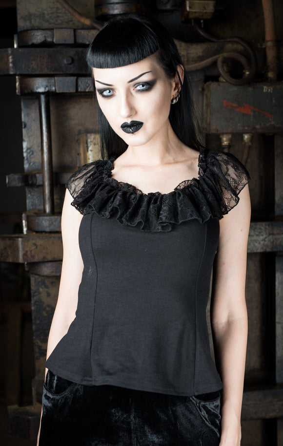 Dracula Clothing - Gothic Frilly Steampunk Blouse