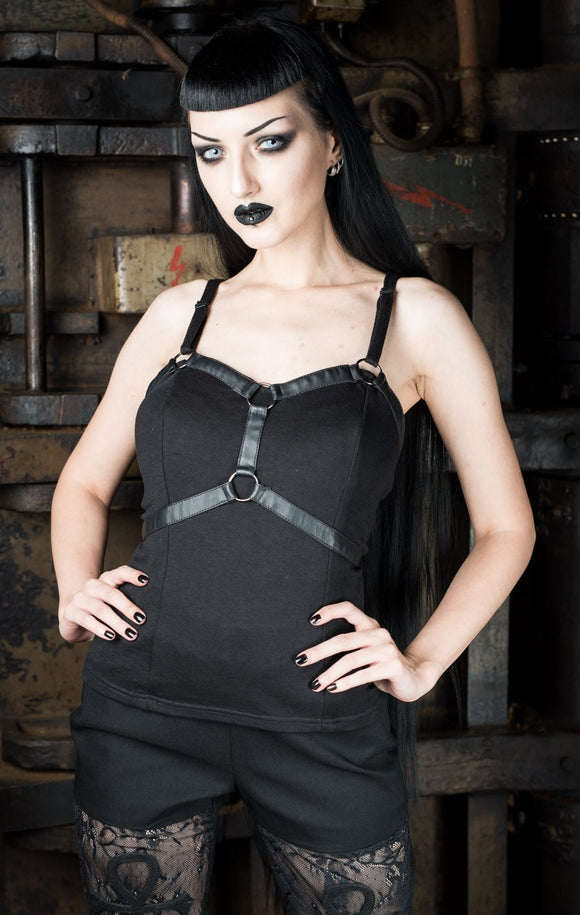 Dracula Clothing - Gothic Harness Steampunk Top