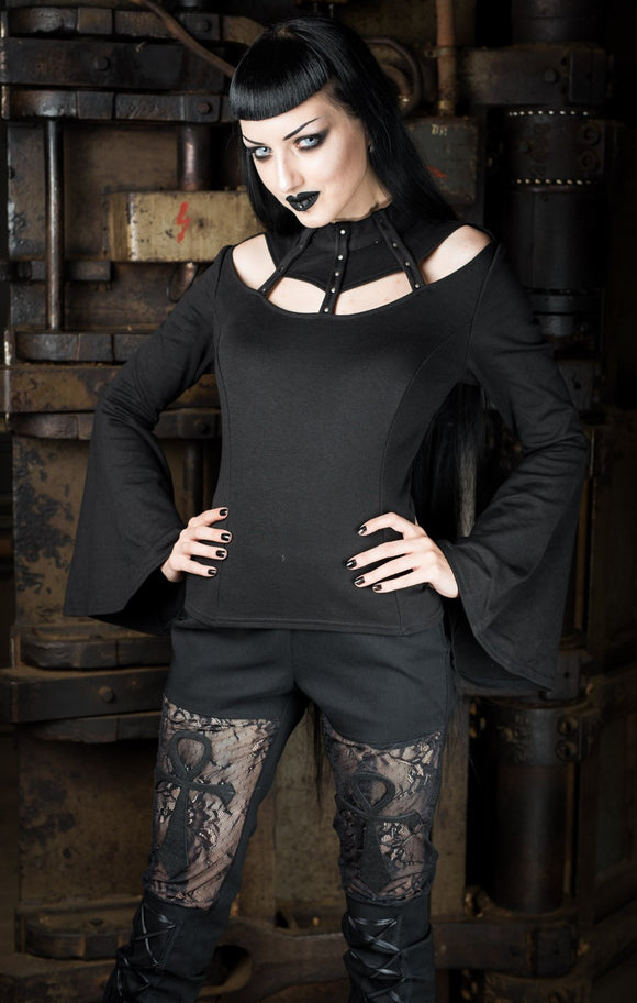 Dracula Clothing - Gothic Strapped Steampunk Top