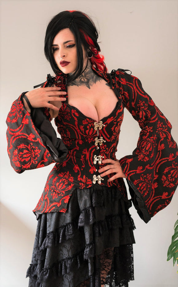 Dracula Clothing - Gothic Steampunk Winter Is Not Coming Red Top