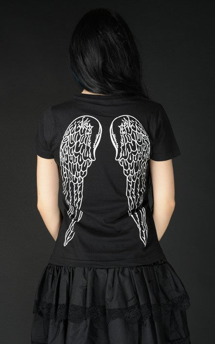 Dracula Clothing - Gothic Steampunk Wings T Shirt