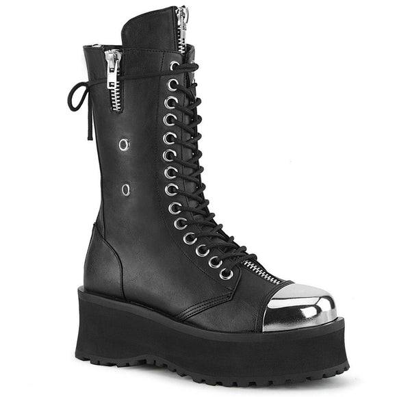 Demonia - Men's Punk Lace-Up Mid Calf Gravedigger Boot