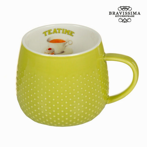 Bravissima Kitchen - Green Cup Tea Time Coffee Mug