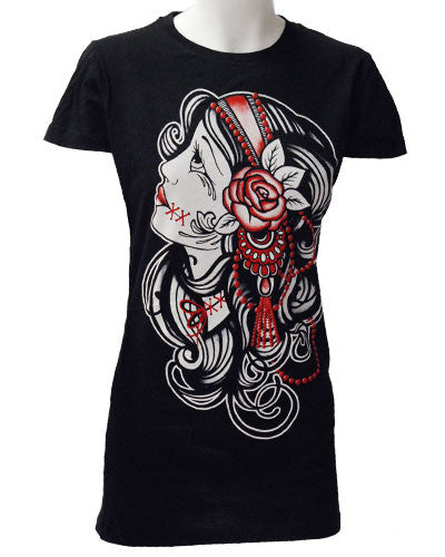 Darkside Clothing - Gypsy Girl T-Shirt - Egg n Chips London