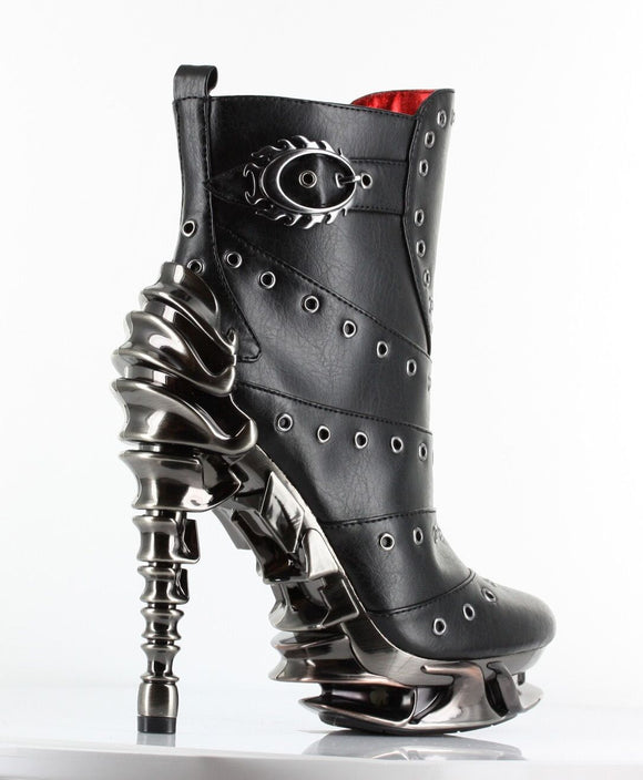 Hades Shoes - Raven Stiletto Booties UK 6.5 SALE