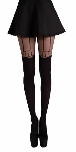 Pamela Mann - Hand Suspender Tights - Egg n Chips London