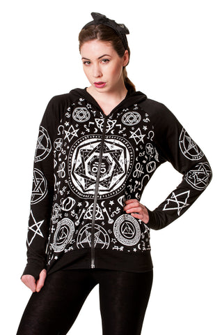 Banned Clothing - Black Pentagram Hoodie