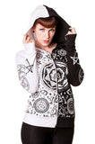 Banned Clothing - Black White Pentagram Hoodie - Egg n Chips London