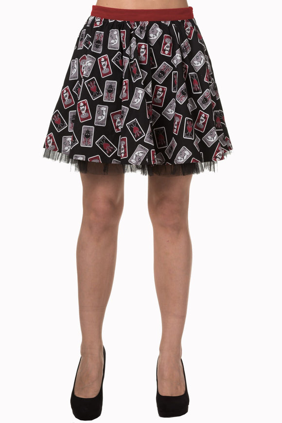 Banned Apparel - Heavenly Creatures Mini Skirt - Egg n Chips London
