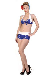 Banned Clothing - Hello Sailor Nautical Bikini Top - Egg n Chips London