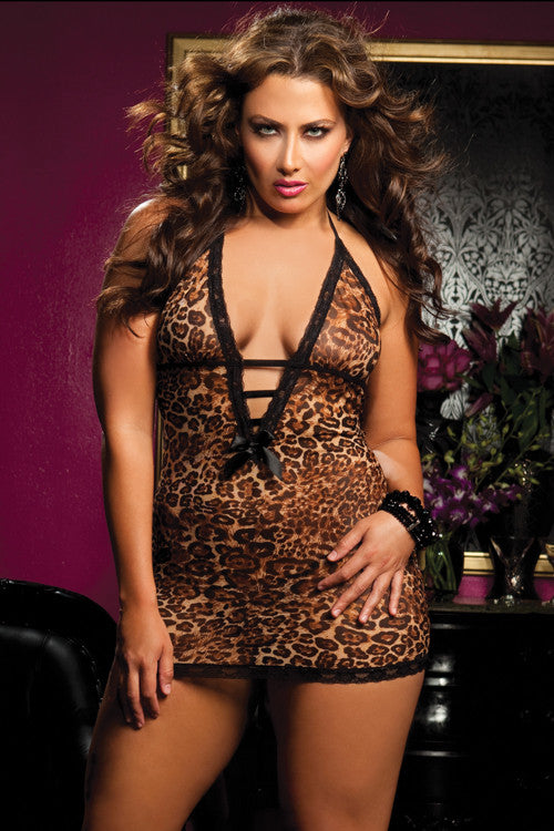 Seven 'til Midnight - Hear Me Roar Plus Size Chemise - Egg n Chips London