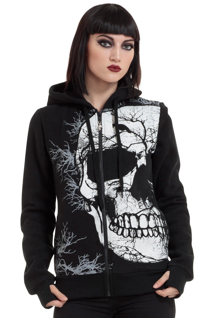 Jawbreaker CLothing - Crow Skull Hoodie - Egg n Chips London