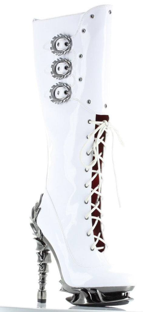 Hades Shoes - White Hyperion Boots