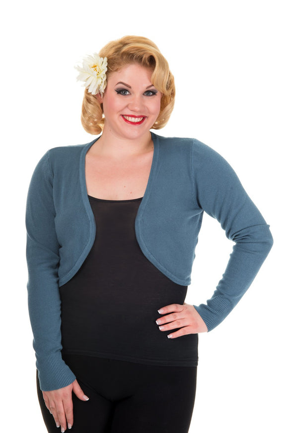 Banned Apparel - Flicker Indigo Blue Plus Size Bolero - Egg n Chips London