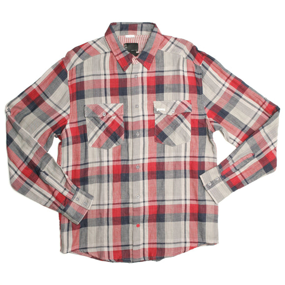 Iron Fist Clothing - Men's Rolled Up Check Shirt - Egg n Chips London