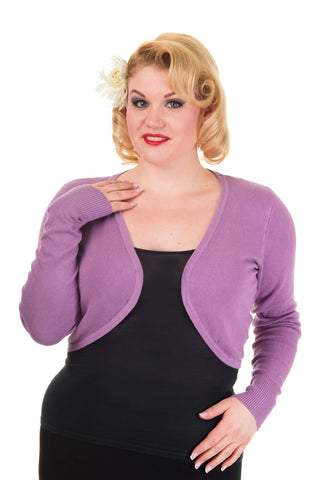 Banned Apparel - Flicker Lavender Plus Size Bolero