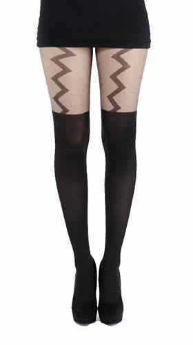 Pamela Mann - Lightening Suspender Tights - Egg n Chips London