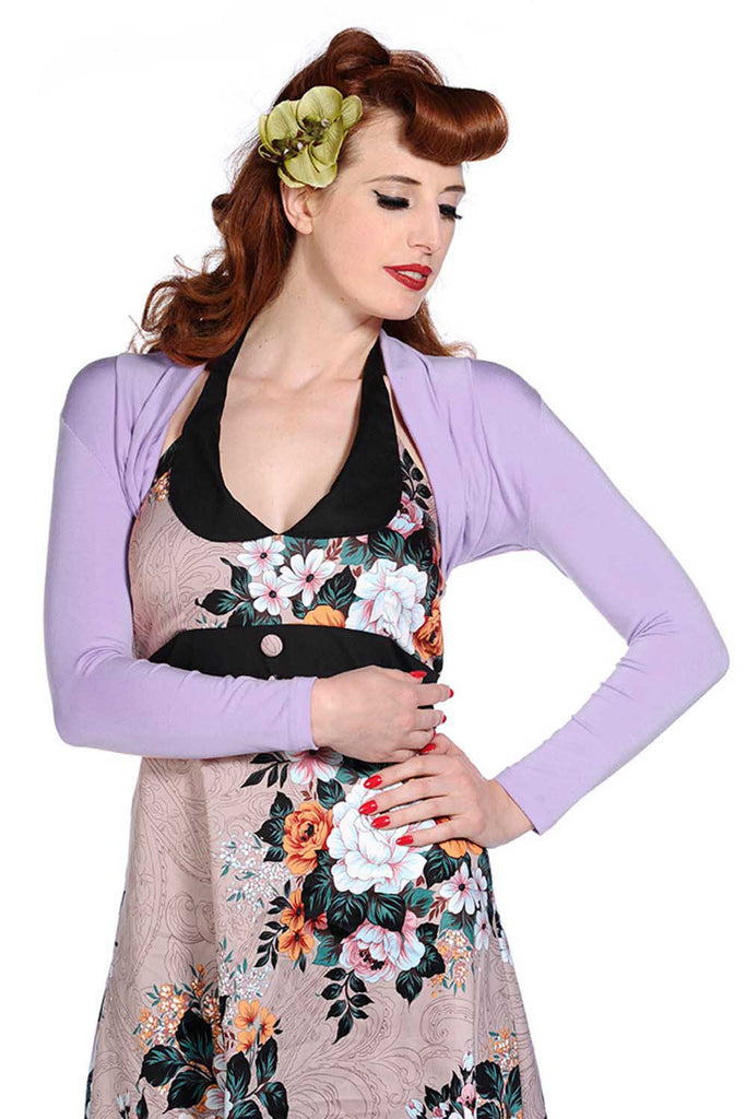 Banned Apparel - Lost Queen Lavender Rockabilly Bolero - Egg n Chips London