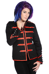 Banned Apparel - Military Drummer Red Jacket - Egg n Chips London
