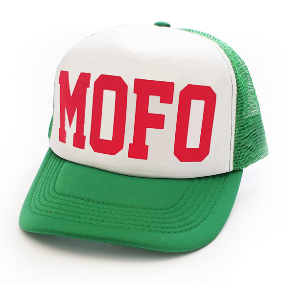 Toxico Clothing - Mofo Trucker Hat (Green/White) - Egg n Chips London