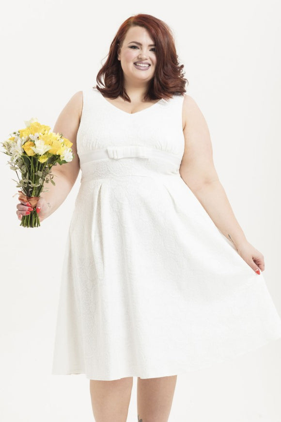 Voodoo Vixen - Women's Monroe Bridal Plus Size Dress
