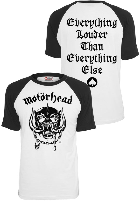Motörhead Everything Louder Raglan Tee (S - 5XL)