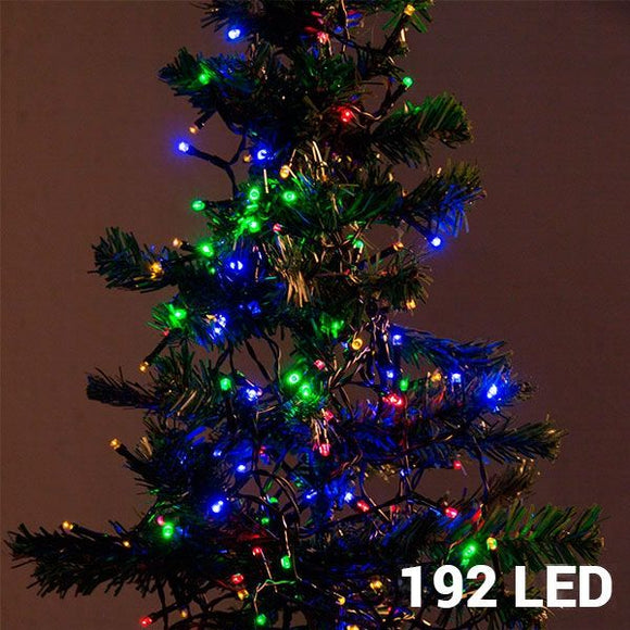 Multi-coloured Christmas Lights (192 LED) - Egg n Chips London