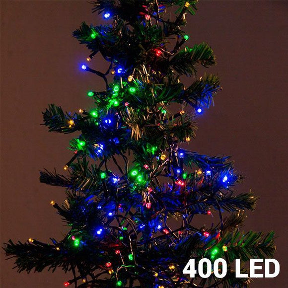 Multi-coloured Christmas Lights (400 LED) - Egg n Chips London