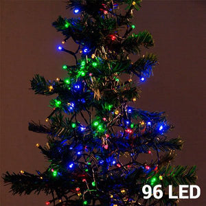 Multi-coloured Christmas Lights (96 LED) - Egg n Chips London