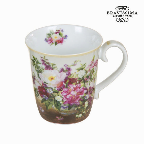 Bravissima Kitchen - Natural Flower Bouquet Coffee Cup - Egg n Chips London