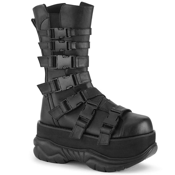 Demonia - Men's Goth Mid Calf Neptune Boot With Side Zip