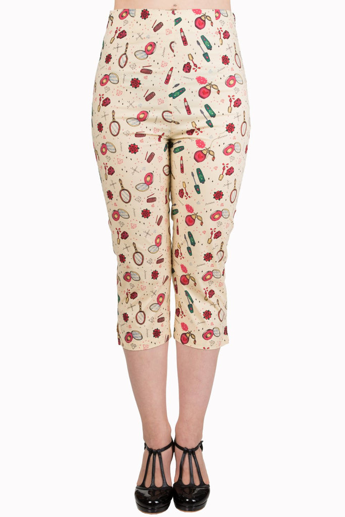Banned Apparel - New Romantics Capri Trousers - Egg n Chips London