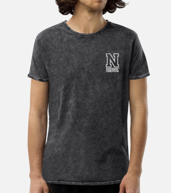 Norvine Embroidered Denim T-Shirt