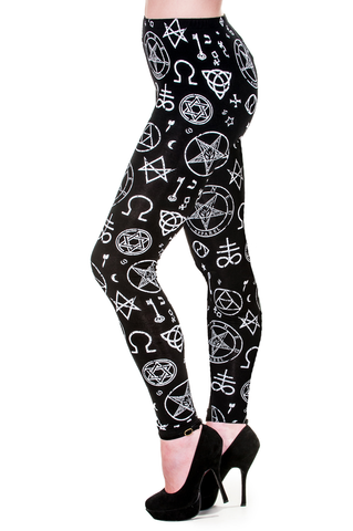 Banned Clothing - Occult Symbols Illuminati Leggings
