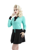 Voodoo Vixen - Octavia Sea Green Octo-Girl Tattoo Cardigan - Egg n Chips London