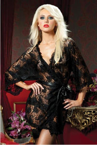 Seven 'til Midnight - Paisley Pleasure Lace Robe - Egg n Chips London
