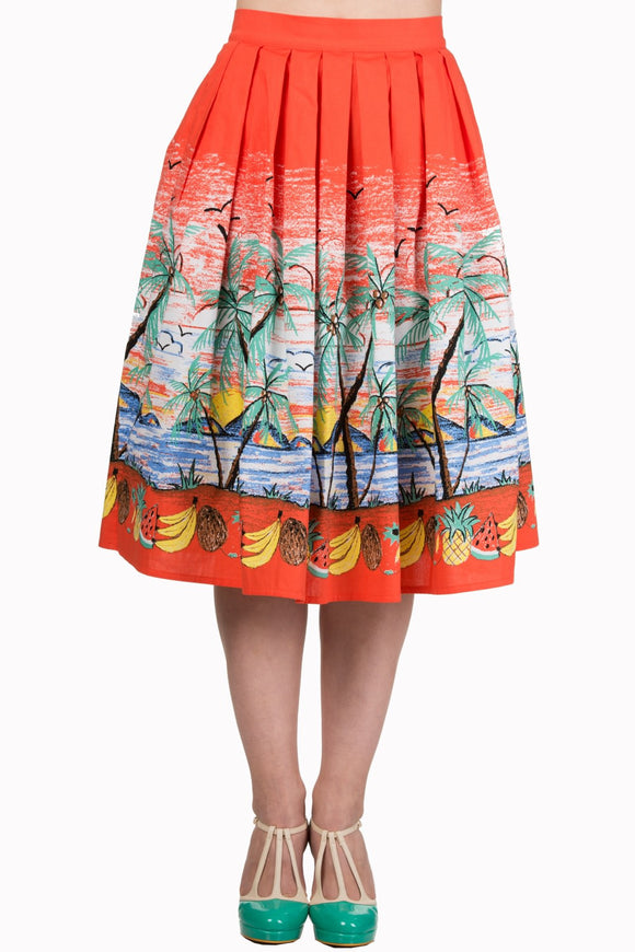 Banned Apparel - Palm Springs Skirt - Egg n Chips London