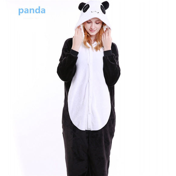 Mengshufen - Panda Animal Style Flannel Jumpsuit Pyjamas - Egg n Chips London