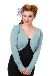 Bannned Apparel - Flicker Pastel Blue Bolero - Egg n Chips London